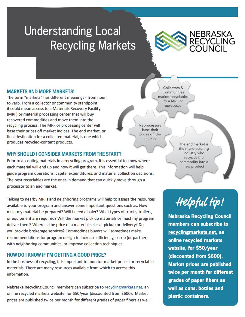Understanding Local Recycling Markets